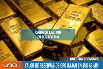 NUESTRA ECONOMÍA: RIN CAEN EN $US 806 MM HASTA INICIOS DE JULIO