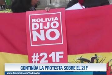CONTINÚA LA PROTESTA SOBRE EL 21F