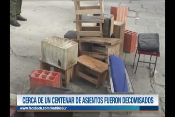 CERCA DE UN CENTENAR DE ASIENTOS FUERON DECOMISADOS