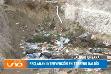REALIDAD URBANA: RECLAMAN INTERVENCIÓN EN TERRENO BALDÍO