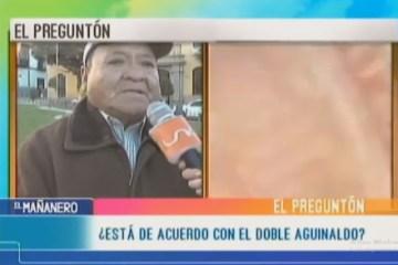 EL PREGUNTÓN: DOBLE AGUINALDO