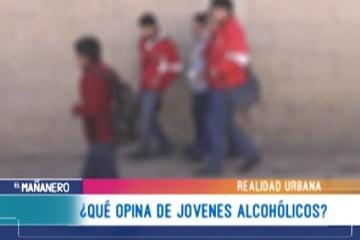 REALIDAD URBANA: EL ALCOHOLISMO EN LOS JÓVENES