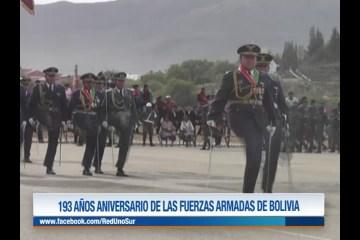 193 AÑOS ANIVERSARIO DE LAS FUERZAS ARMADAS DE BOLIVIA