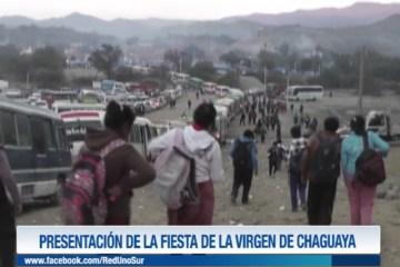 PRESENTACIÓN DE LA FIESTA DE LA VIRGEN DE CHAGUAYA