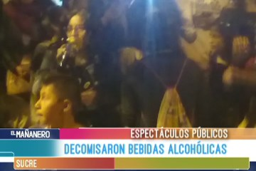 DECOMISARON BEBIDAS ALCOHÓLICAS