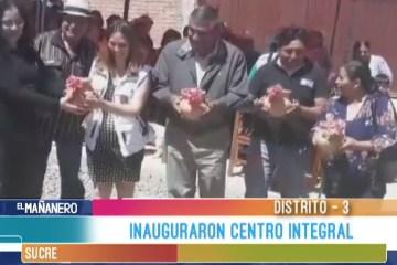 INAUGURARON CENTRO INTEGRAL EN EL DISTRITO 3