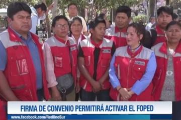 FIRMA DE CONVENIO PERMITIRÁ ACTIVAR EL FOPED