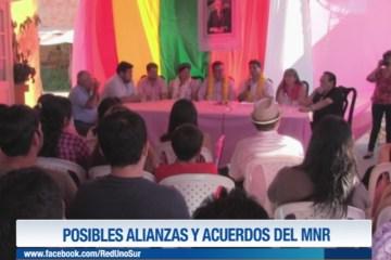 POSIBLES ALIANZAS Y ACUERDOS DEL MNR