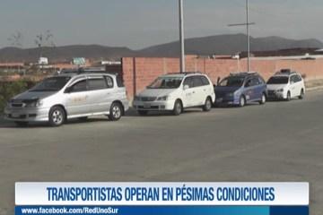 TRANSPORTISTAS OPERAN EN PÉSIMAS CONDICIONES