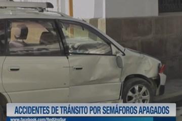 ACCIDENTES DE TRÁNSITO POR SEMÁFOROS APAGADOS