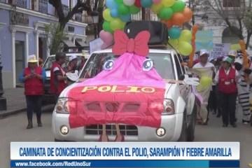 CAMINATA DE CONCIENTIZACIÓN CONTRA EL POLIO, SARAMPIÓN Y FIEBRE AMARILLA