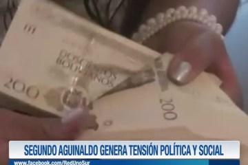 SEGUNDO AGUINALDO GENERA TENSIÓN POLÍTICA Y SOCIAL