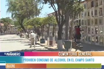 PROHÍBEN CONSUMO DE ALCOHOL EN EL CAMPO SANTO