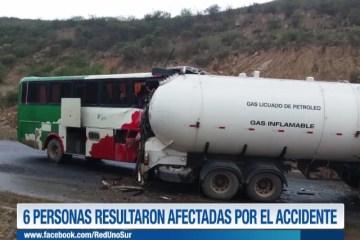 6 PERSONAS RESULTARON AFECTADAS POR EL ACCIDENTE