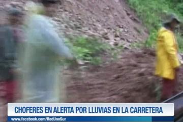 CHOFERES EN ALERTA POR LLUVIAS EN LA CARRETERA