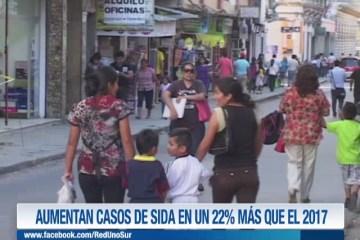 AUMENTAN CASOS DE SIDA EN UN 22%  MÁS QUE EL 2017