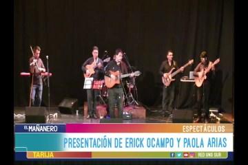 ESPECTÁCULO: PRESENTACIÓN DE ERICK OCAMPO Y PAOLA ARIAS