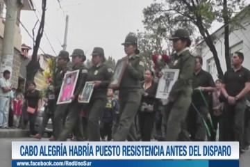 CABO ALEGRÍA HABRÍA PUESTO RESISTENCIA ANTES DEL DISPARO