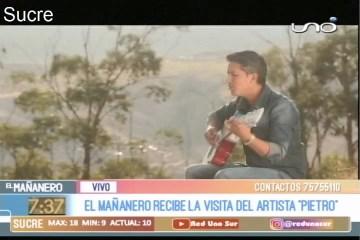 """EN EL SET: ARTISTA CHUQUISAQUEÑO """"PIETRO"""""""