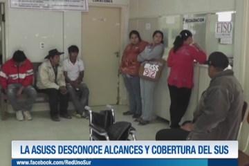 LA ASUSS DESCONOCE ALCANCES Y COBERTURA DE SUS