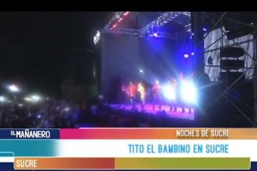 NOCHES DE SUCRE: CONCIERTO DE TITO EL BAMBINO