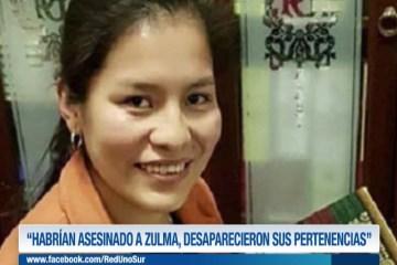 """""""HABRÍAN ASESINADO A ZULMA, DESAPARECIERON SUS PERTENENCIAS"""""""