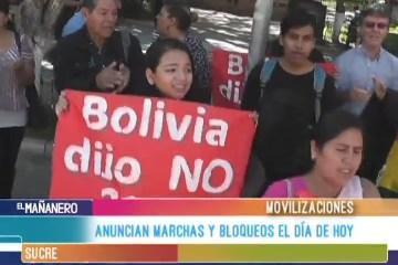 ANUNCIAN MARCHAS Y BLOQUEOS PARA EL DÍA DE HOY