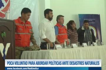POCA VOLUNTAD PARA ABORDAR POLÍTICAS ANTE DESASTRES NATURALES
