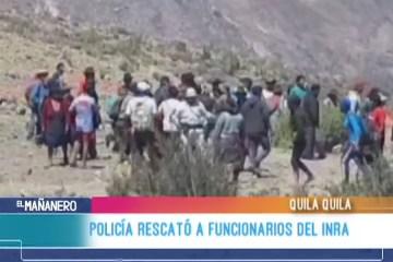 POLICÍA RESCATÓ A FUNCIONARIOS DEL INRA