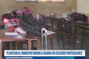 PLANTEAN AL MUNICIPIO MOCHILA SEGURA EN COLEGIOS PARTICULARES