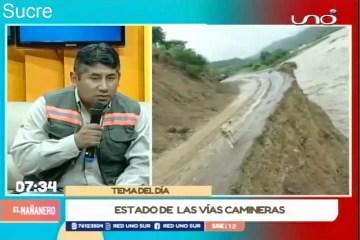 TEMA DEL DÍA: ESTADO DE LA VÍAS CAMINERAS EN CHUQUISACA