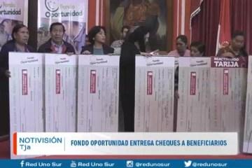 FONDO OPORTUNIDAD ENTREGA CHEQUES A BENEFICIARIOS