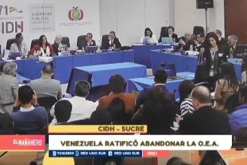 VENEZUELA RATIFICÓ ABANDONAR LA O.E.A.