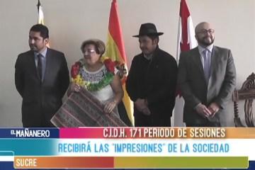 """LA C.I.D.H. RECIBIRÁ LAS """"IMPRESIONES"""" DE LA SOCIEDAD"""