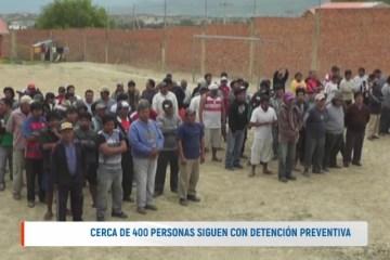 CERCA DE 400 PERSONAS SIGUEN CON DETENCIÓN PREVENTIVA