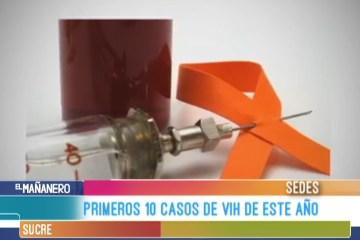 PRIMEROS 10 CASOS DE VIH DE ESTE AÑO