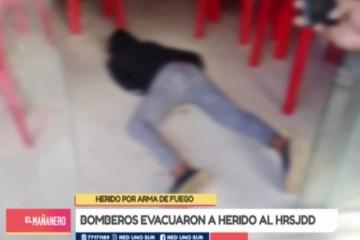 HOMBRE ES HERIDO POR ARMA DE FUEGO EN TARIJA