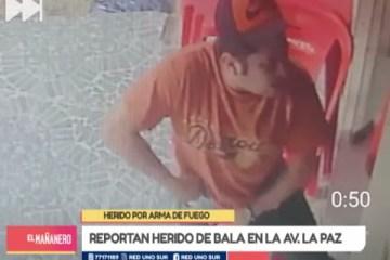 REPORTAN HERIDO DE BALA EN AV. LA PAZ