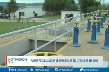 PLANTA POTABILIZADORA DE AGUA DOTARÁ 320 LITROS POR SEGUNDO