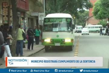MUNICIPIO REGISTRARÁ CUMPLIMIENTO DE LA SENTENCIA