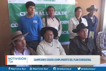CAMPESINOS EXIGEN CUMPLIMIENTO DEL PLAN QUINQUENAL