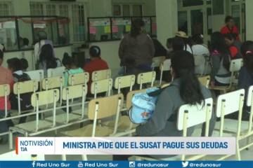 MINISTRA PIDE QUE EL SUSAT PAGUE SUS DEUDAS