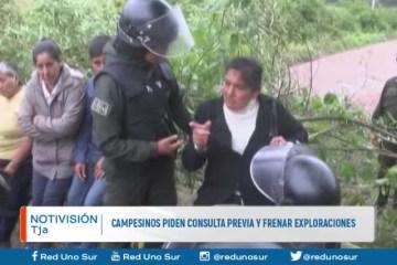 CAMPESINOS PIDEN CONSULTA PREVIA Y FRENAR EXPLORACIONES
