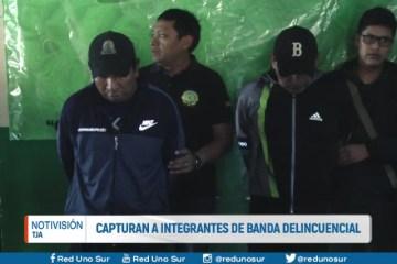 CAPTURAN A INTEGRANTES DE BANDA DELINCUENCIAL