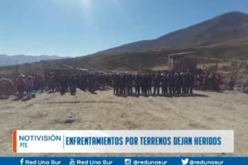 ENFRENTAMIENTOS POR TERRENOS DEJAN HERIDOS