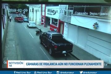 CÁMARAS DE SEGURIDAD AÚN NO FUNCIONAN PLENAMENTE