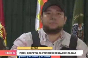 PIDEN RESPETO AL PRINCIPIO DE NACIONALIDAD