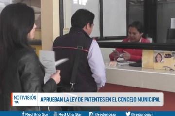 APRUEBAN LA LEY DE PATENTES EN EL CONCEJO MUNICIPAL