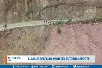 ALCALDE RESPALDA PARO DEL AUTOTRANSPORTE