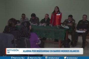ALARMA POR INSEGURIDAD EN EL BARRIO MORROS BLANCOS